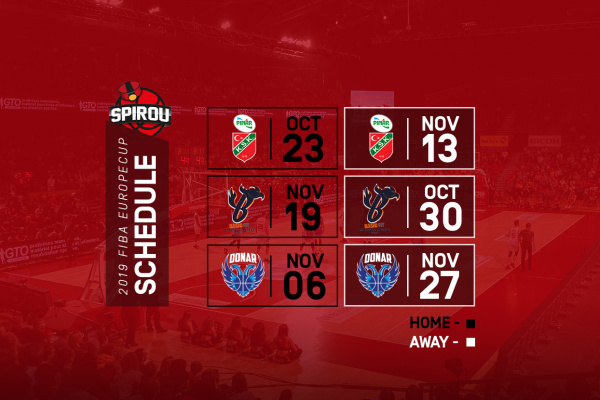 Calendrier Coupe Deurope.Coupe D Europe Le Calendrier Complet Spirou Basket