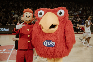 La mascotte du Spirou Charleroi a trouvé de la compagnie.