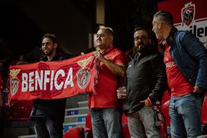 Quelques supporters portugais étaient présents.